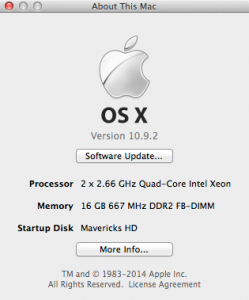 Xeon X5355 About This Mac