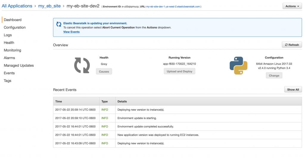 Tutorial: Deploying Python 3, Django, PostgreSQL to AWS